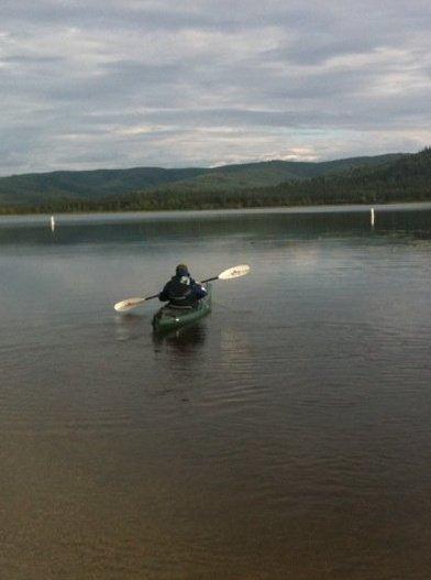 Dad and his Kayak.